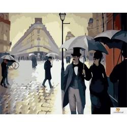 Парижка улица: Дъждовен ден-Густав Кайбот