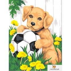 Куче с топка