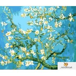 40х50см  Цъфтящи бадемови клонки  -Винсент Ван Гог