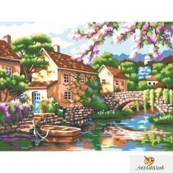 Село край реката